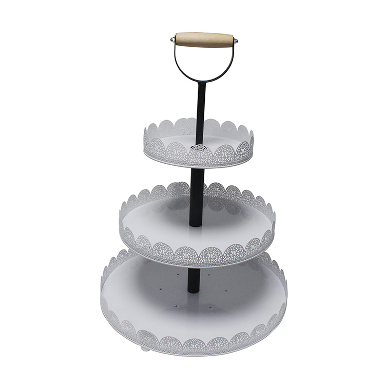 Tabletop 3 Tier metal Cupcake Stand For Wedding Party Baby Shower