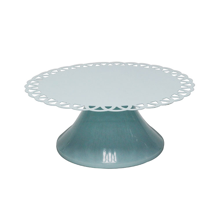 Blue Antique Round Metal wholesale Round Dessert Stand