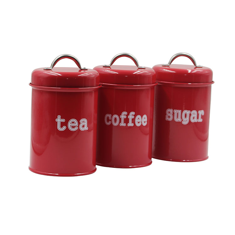 Kitchen Canister Set  3-Piece Coffee Sugar and Tea Storage Container Jars