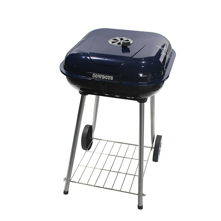 "21.5""Steel Portable Outdoor Charcoal Barbecue Grill with Wheels"