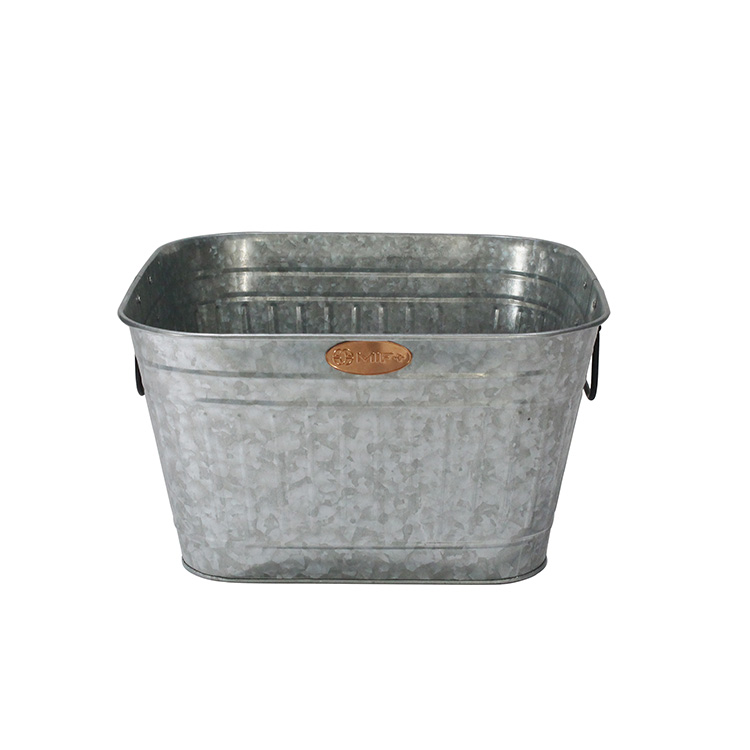 Home Large Metal Galvanized Party Beverage Tub