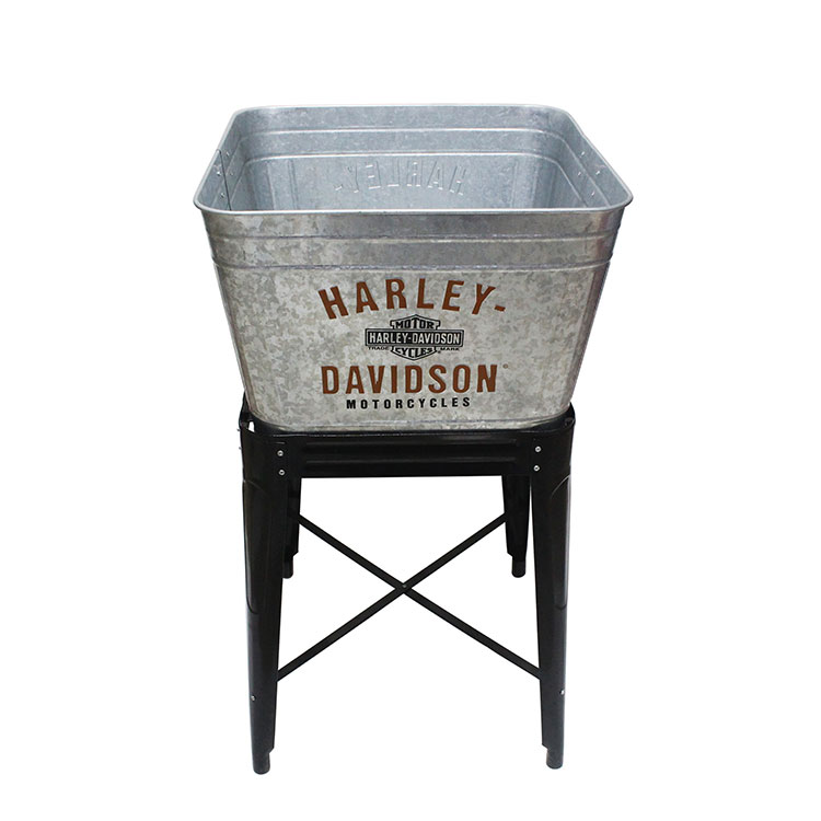 17 Gallon Metal Galvanized Cold Drink Beverage Party Tub With Stand