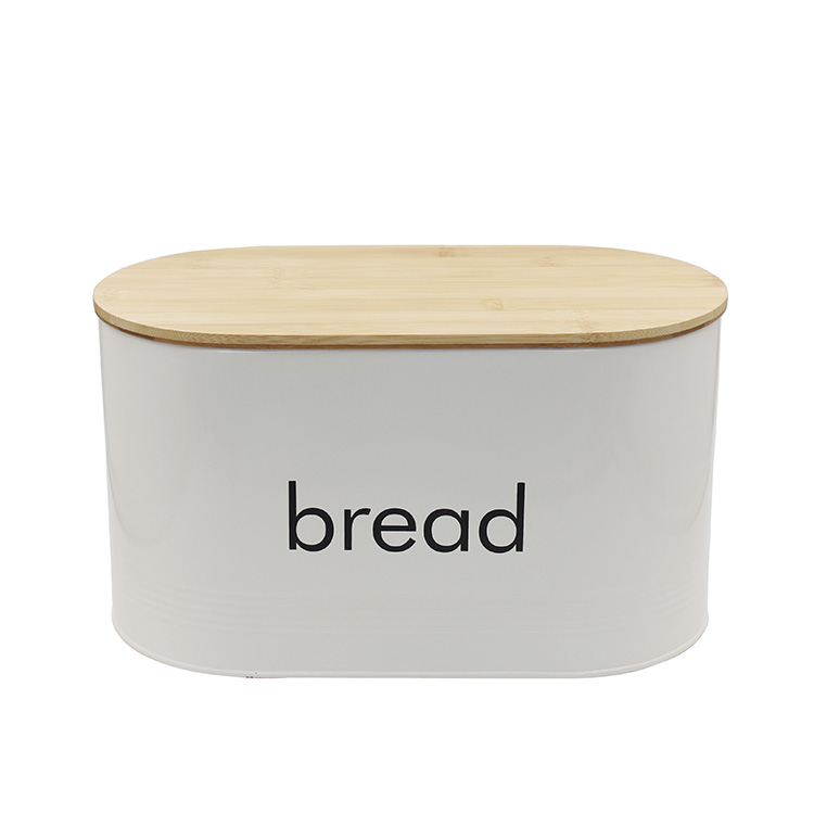 Farmhouse Home Kitchen Storage Cream metal vintage Bread Box for sale
