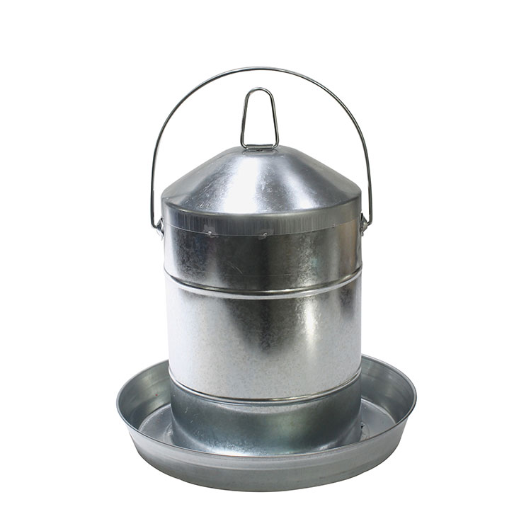 Poultry watering system 12L galvanized steel chicken drinkers