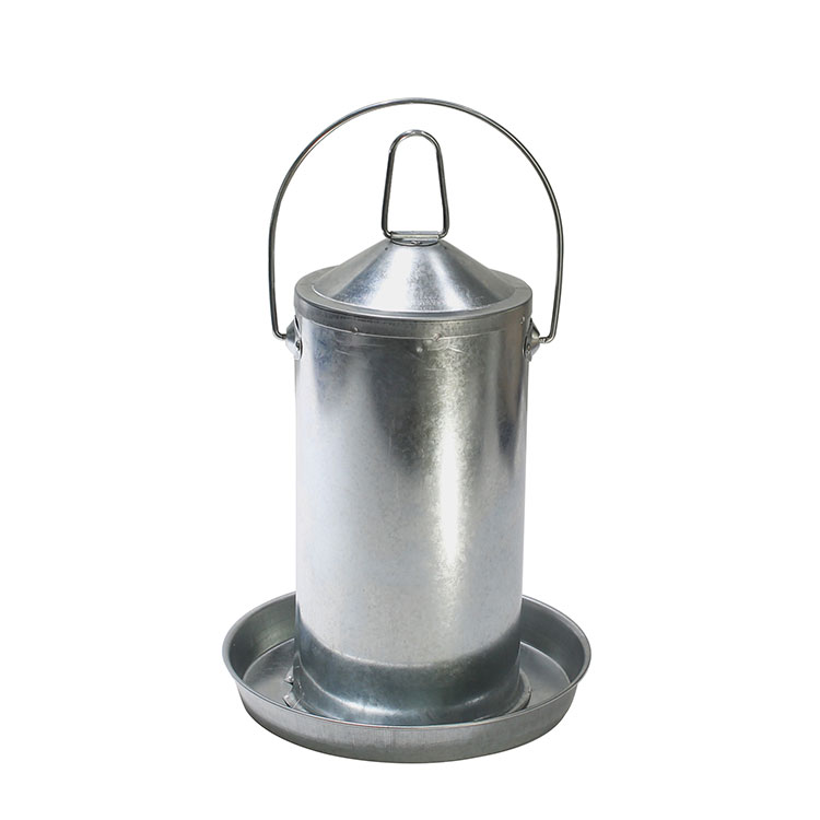 Poultry farm equipment 9L galvanized steel chicken poultry drinkers