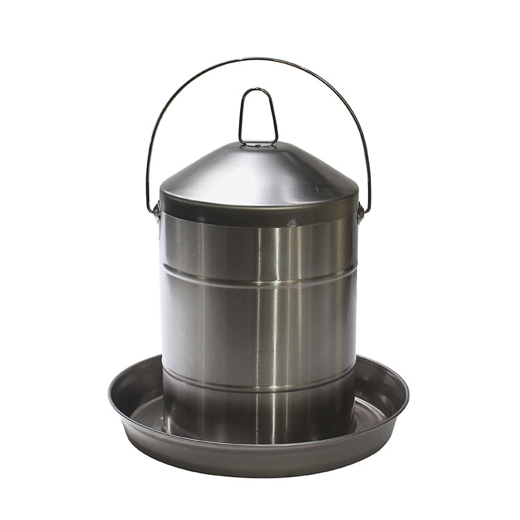 Poultry farm equipment Matte 12L stainless steel chicken water drinkers