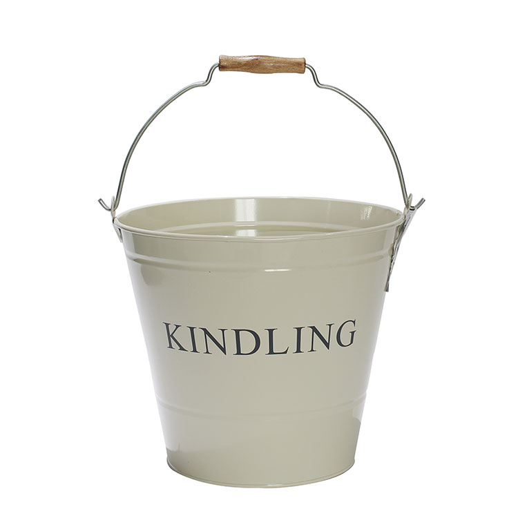 Galvanized Steel fireplace coal Bucket with Handles