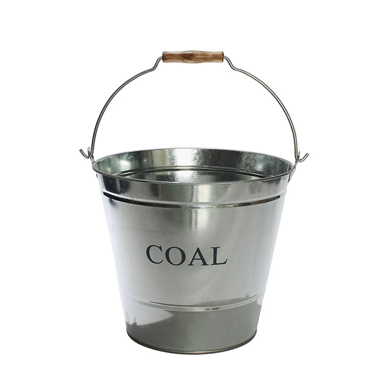 Fireplace Sets & Accessories galvanized metal coal hod fireside bucket