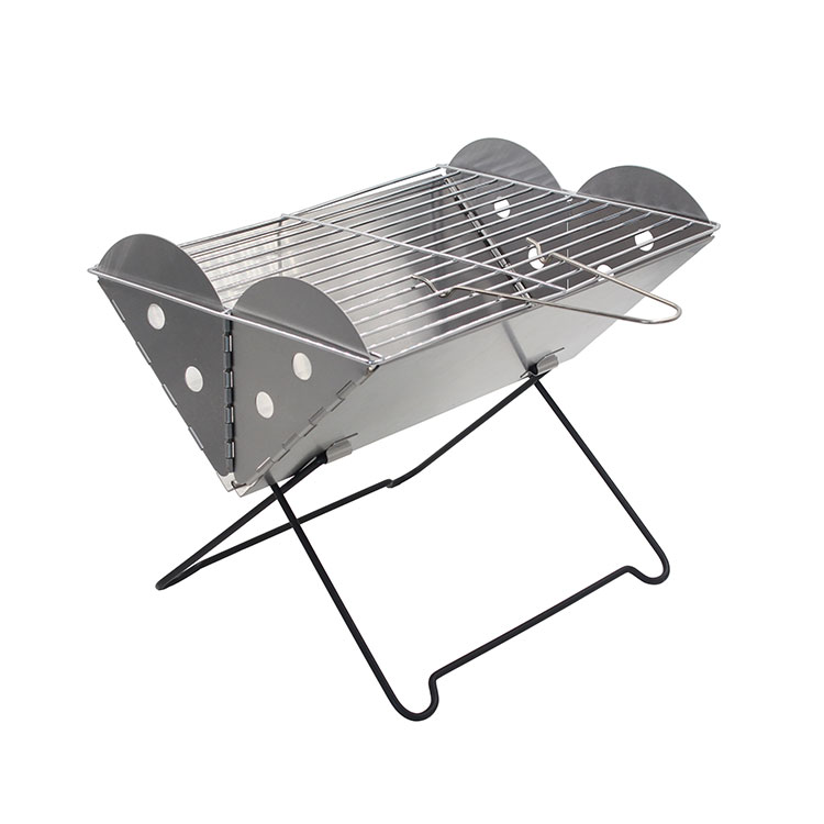 Portable Stainless Steel Folding Charcoal BBQ Grill