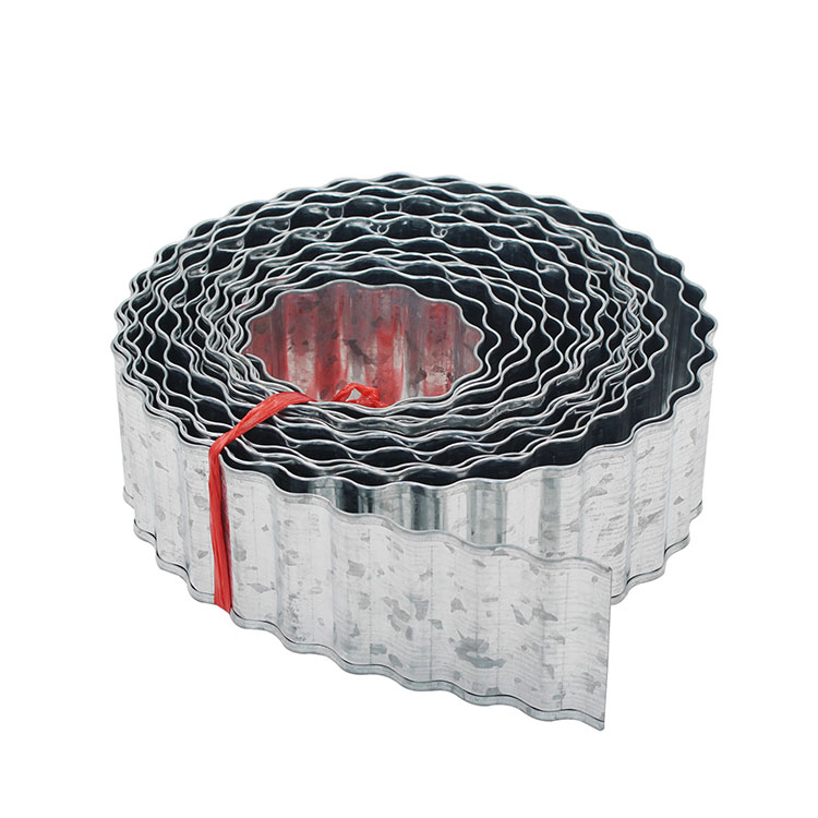 7.5cm*10m Landscape Edging Coil Antirust Flexibility Sturdy galvanized Steel garden Lawn edging