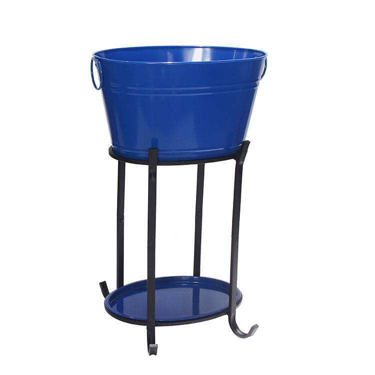 Galvanized Iron Ice Beverage Party tub With Stand