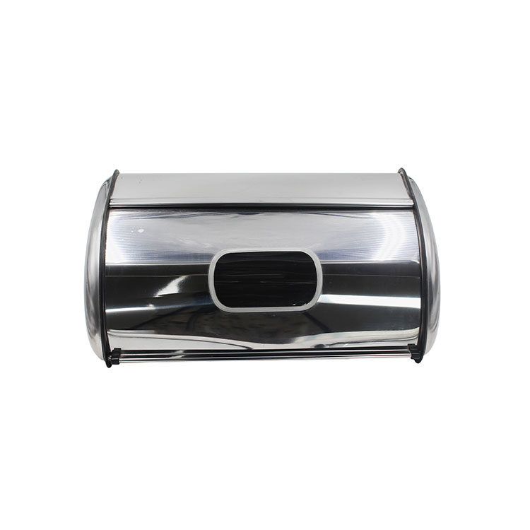 Bread Box for Kitchen Counter Matte Stainless Steel Bread Storage Bin Container w