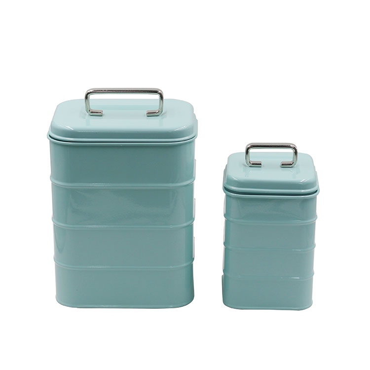 Galvanized Metal Kitchen Food Storage Container