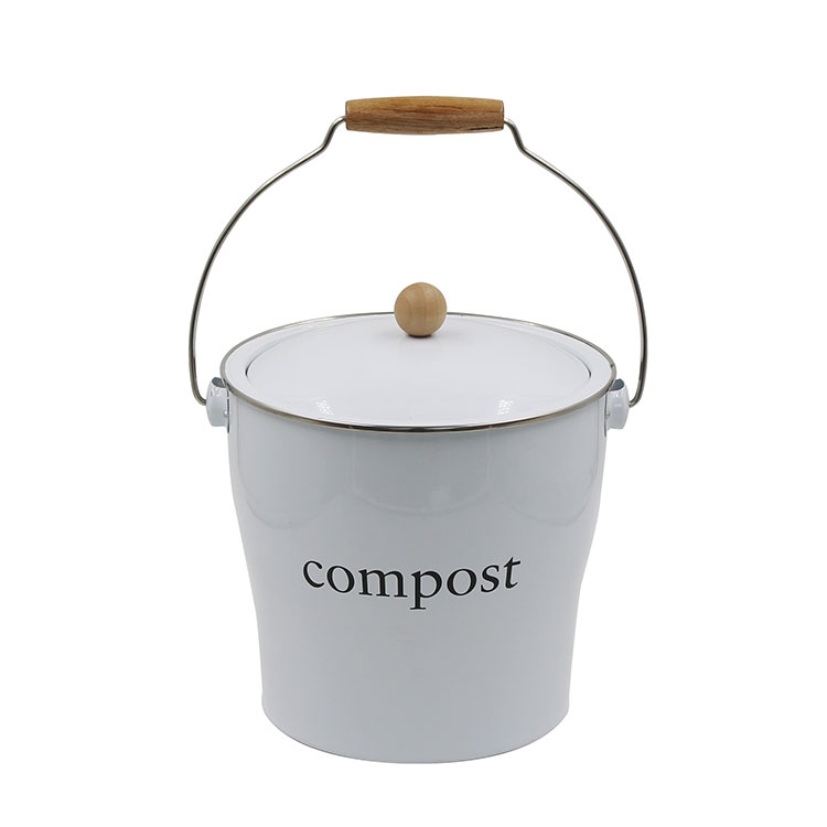 Metal Steel Kitchen food waste Countertop compost bucket container
