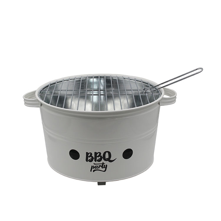 Lightweight Small Metal Charcoal Portable BBQ For Outdoor Grilling Picnics Campin