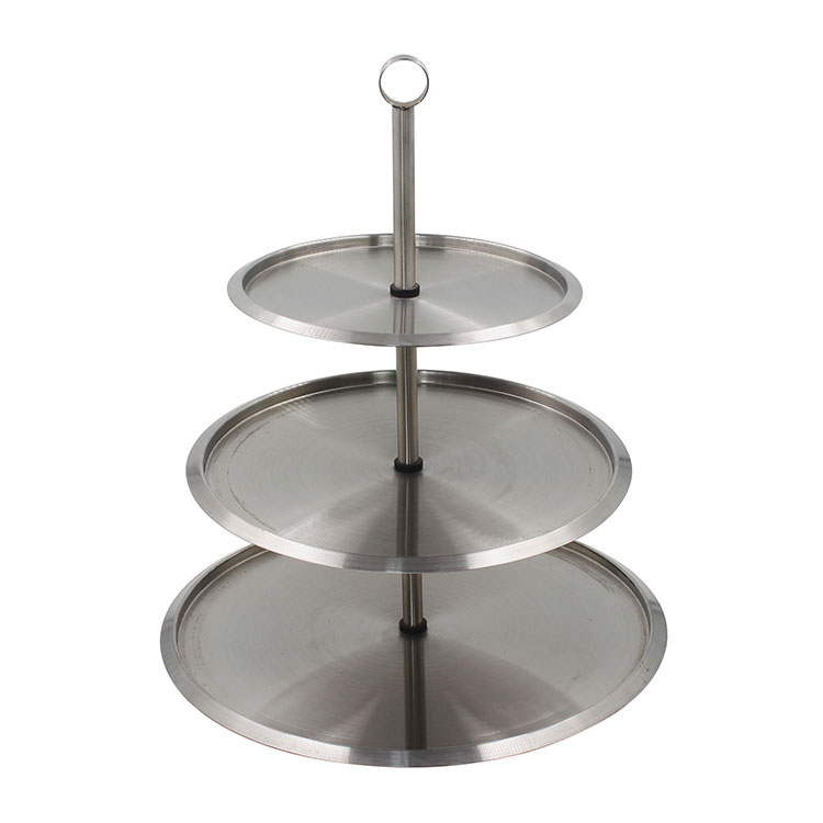 Stainless Steel 3 Tiered Serving Tray For Parties Cupcakes Fruits Dessert or Tea