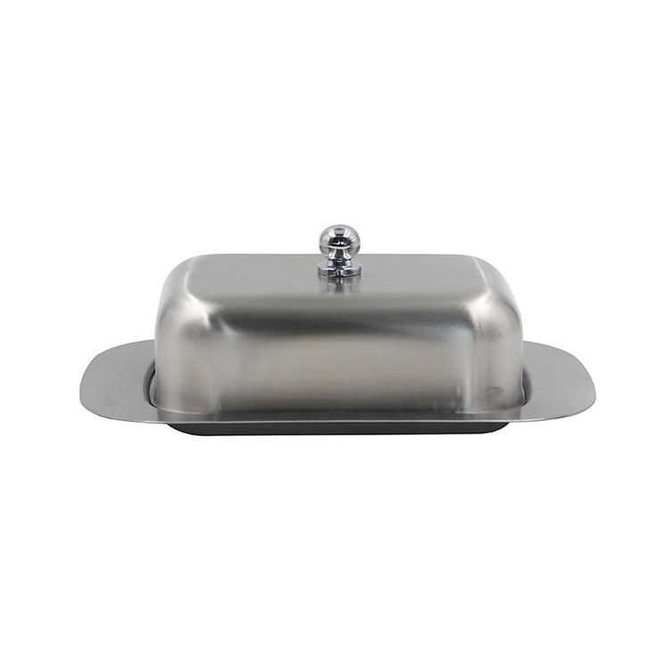 Stainless Steel Double Covered Butter Dish