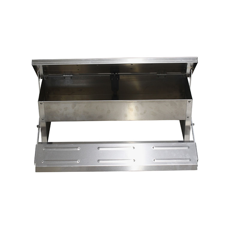 Galvanized Metal Outdoor Auto Chicken Feeder