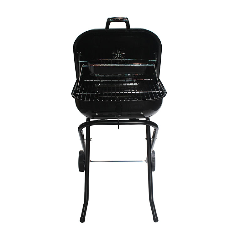 18.5 inch square Camping Portable Charcoal BBQ Grill for Outdoor Picnic Patio Bac