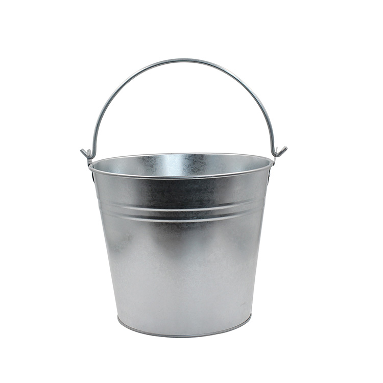Factory Supplies 12L Galvanized Steel Buckets with Handle