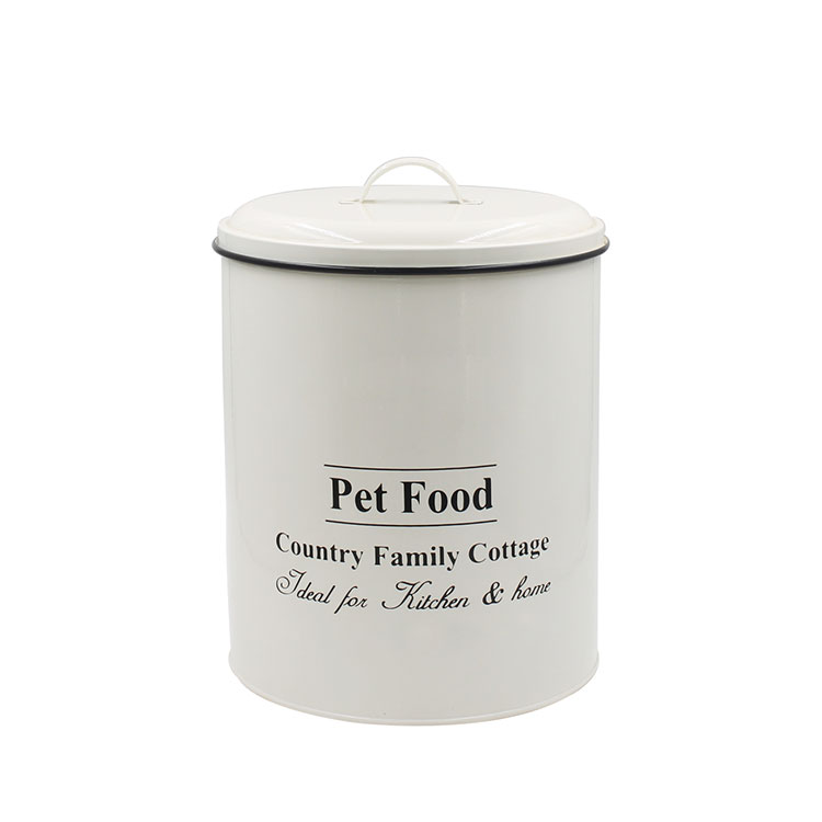 Pet food storage Metal Dog Food Canister