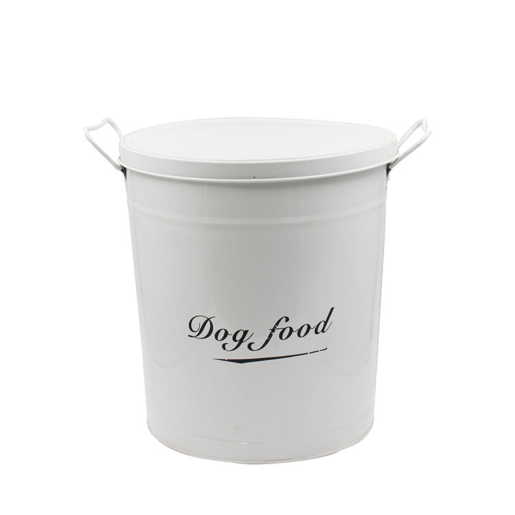 Metal Steel Pets Good Dog Food Storage Canister Dog Food Container