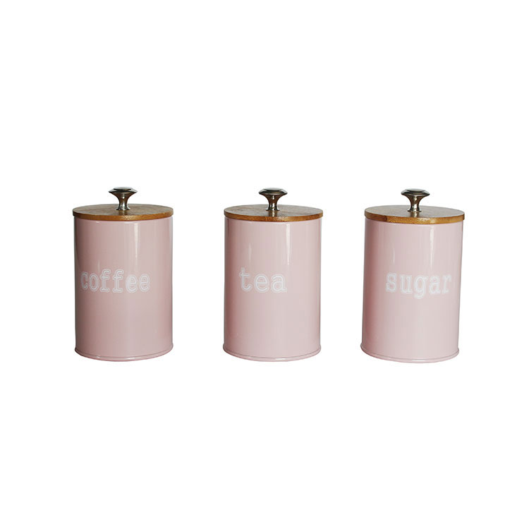 Vintage Style Tea Coffee Sugar Kitchen Storage Canisters Jars Pots Set